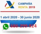 RENTA 2019 Sin desplazamientos - foto