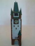 Maqueta torre del reloj para trenes - foto
