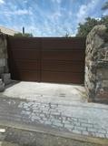 puerta hierro nueva - foto
