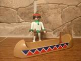Playmobil Indio con canoa años 80 - foto