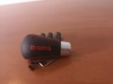 Pomo momo Negro Rojo Universal - foto