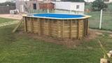Instalación piscinas octogonal alargada - foto