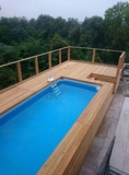 Estructura madera para piscinas - foto