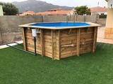Montaje piscina madera sistema fácil - foto