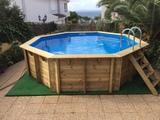 montador piscina madera desmontable - foto