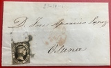 Carta de 1852, Isabel II, Osuna, Sevilla - foto