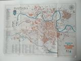 Mapa de Pamplona 1968 antiguo - foto