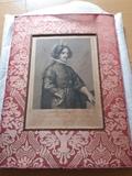 Litografia velazquez antigua año 1858 - foto