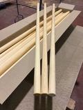 Picas de madera pino y haya - foto