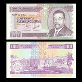 billete burundi 100 francos 2011 - foto