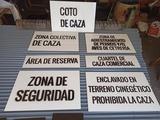 Tablillas para cotos de Castilla La Manc - foto