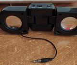 Mini altavoces amplificados a pilas. - foto