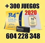 Tarjeta R4 GOLD 2020+300 Juegos. - foto