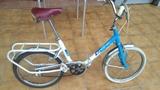 Bicicleta de paseo plegable. - foto