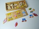 Puzzle madera osos en caja - foto