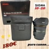 objetivo sigma 10-20 para canon - foto