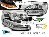 Faros vw t6 luz diurna real cromo r87+in - foto