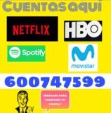 CUENTAS NETFLIX HBO SPOTIFY MOVISTAR//BW - foto