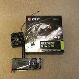 Nvidia MSI GeForce GTX 1070 Sea Hawk 8GB - foto