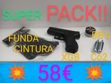 pistola + funda de pistola + accesorios - foto