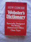NEW CONCISE.  WEBSTER\'S DICTIONARY - foto