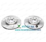 Nczmr kit de 2 discos de freno perforado - foto
