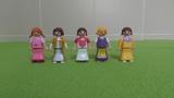 Lote niñas playmobil con vestido largo - foto