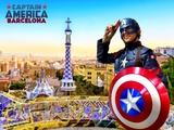 Capitán América en Barcelona - foto