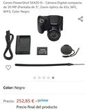 cámara de fotos canon - foto