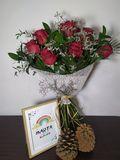 Ramo rosas + Lámina personalizada - foto