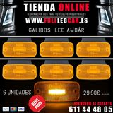 KIT 6 GALIBOS LED LATERAL AMBAR 12V 24V - foto