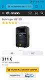 Altavoces Behringer B615D y focos LED - foto