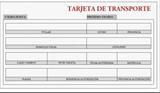 TARJETA DE TRANSPORTE  MPCE - CAMION PESADO AÑO 1977 - foto