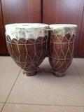 Bongos de ceramica. - foto