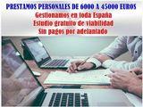 PRESTAMOS DE 6000 A 45000 EUROS - foto