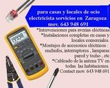 Electricista en Delicias Zaragoza - foto