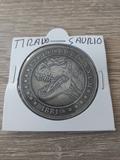 moneda souvenirs tiranosaurio rex - foto