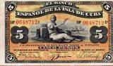 Billete del banco espaÑol de la isla de - foto
