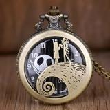 Reloj de bolsillo Jack Skellington Sally - foto