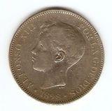 Z02-alfonso xiii 5 pesetas 1898 sg v - foto