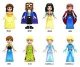 8 FIGURAS Princesas Disney (Belle Bella, - foto