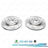 Jvq kit de 2 discos de freno perforados  - foto