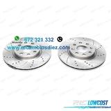 Pev kit de 2 discos de freno perforados  - foto