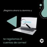 REGISTRA TU DOMINIO Y TE DAMOS 2 CORREOS - foto