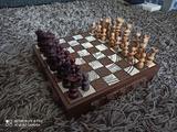 ajedrez madera caja muy rara25x25 - foto
