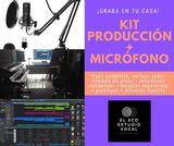 Pack microfono estudio + producciÓn - foto