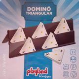 Dominó triangular sin uso. - foto