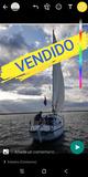 VELERO INVICTA 26.  8 MTS 50 % SOCIEDAD - foto