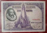 billete 100 pesetas 1928 sin serie - foto