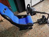 Volante   pedales  asiento PS4 ps3 y pc - foto